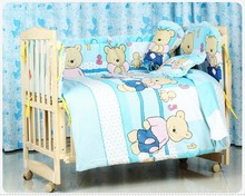 Promotion 10PCS newborn bedding set cot nursery cot bedding kit bed unpick bumpers matress pillow duvet