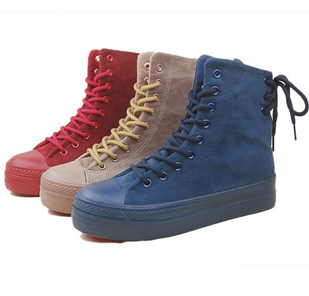 new-arrival-spring-fall-high-top-canvas-shoes-women ...