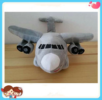2016 new design cute plush vehicle air plane toy custom