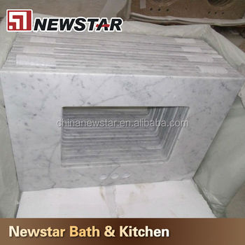 newstar stone factory make white cultured marble vanity top