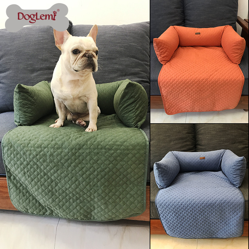 Dog Bed Sofa Warm Quilted Cat Dog Bed Sofa