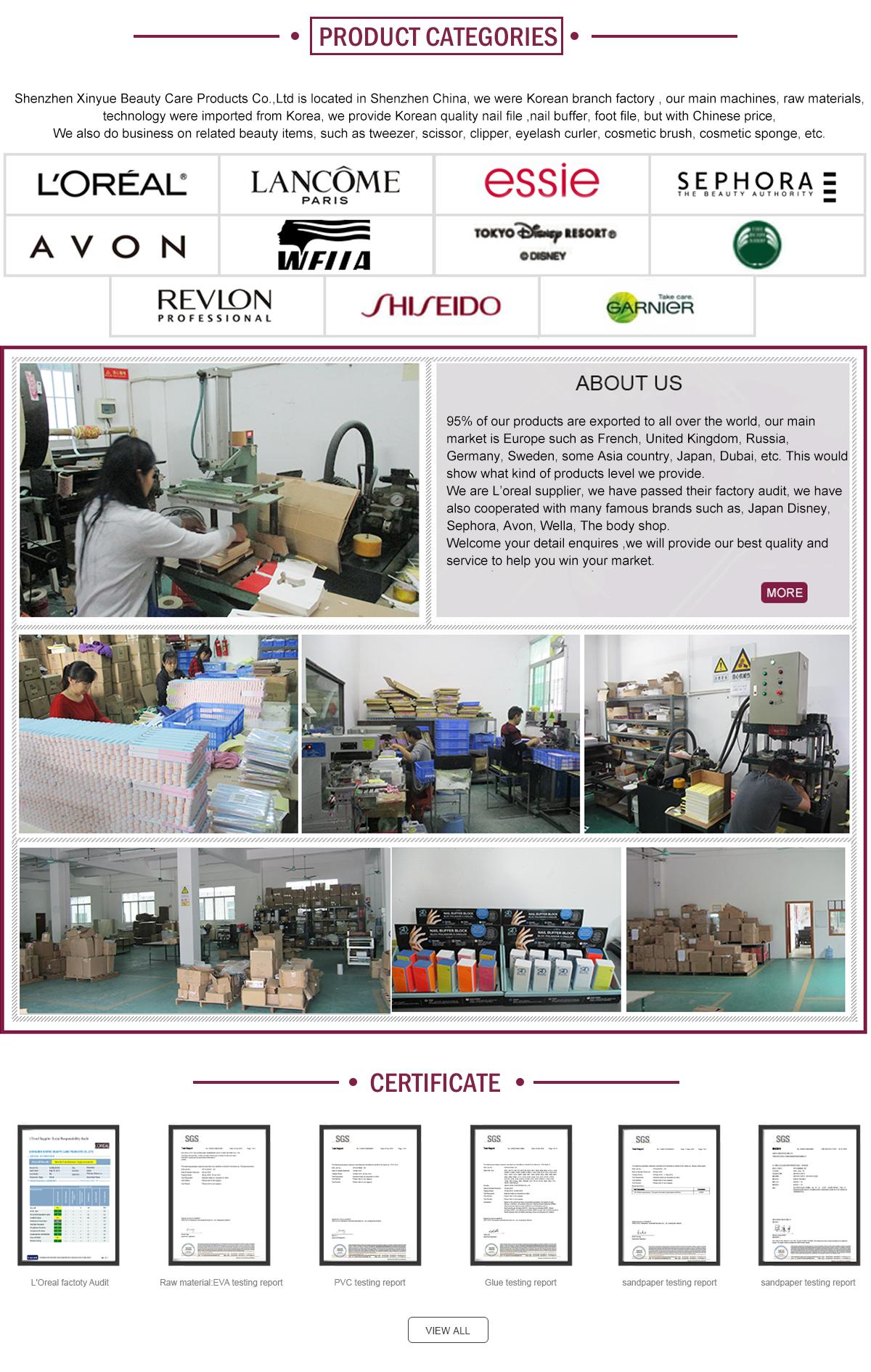 Shenzhen Xinyue Beauty Care Products Co., Ltd. - nail files, nail buffer