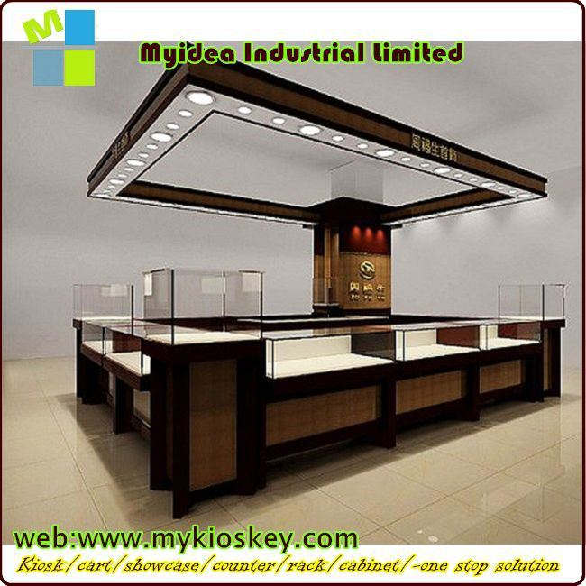 Top Hot Sale Jewelry Display Counter/jewellery Showroom Design Led  XQ33