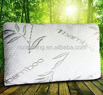 2015 Miracle Bamboo queen size shredded memory foam pillow with stay cool bamboo cover