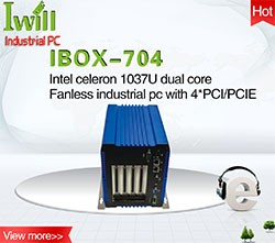 Fanless Industrial Computer I3 I5 I7 CPU QM87 IBOX602 4 Display 6 RS323 Support RS485