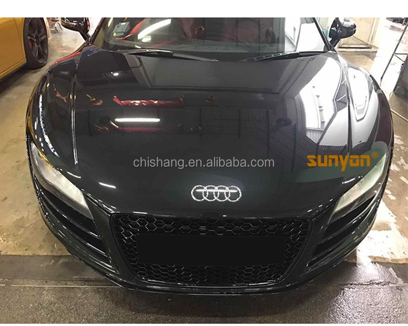 For Audi R8 2013 2014 2015 2016 2017 ABS Plastic RS Style Grille Modify Front Grilles Front Center Mesh Grills Car Accessories