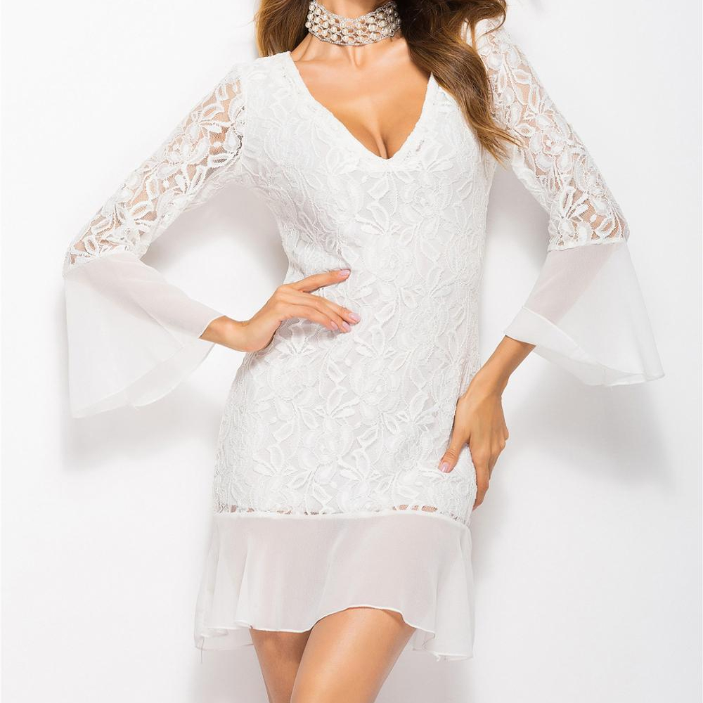 Groothandel Bulk Vrouwen Kleding White Party Dress Casual Dames Jurken Mode 2018