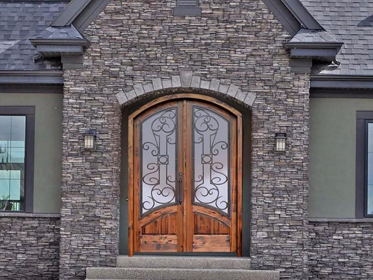 Vetro porte anteriori del progettista doppio esterno for Puertas para patio exterior