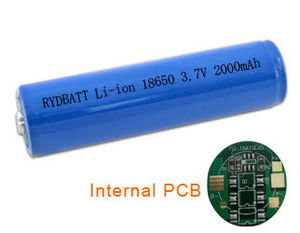 rechargeable 3.7V li- ion 18650 2000mAh battery cell with PCM
