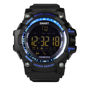 EX16 Mens Military Smart Watch Bluetooth 4.0 5ATM & IP67 Waterproof Smartwatch Pedometer Call SMS Reminder Sports Wristwatch
