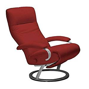 Get Quotations · Kiri Recliner Red Leather Swivel Recliner Lafer Recliner  Chairs