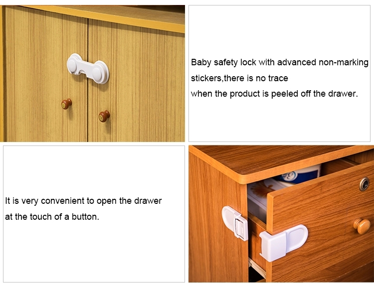 Hot child ABS smooth safety buckle cabinet locks