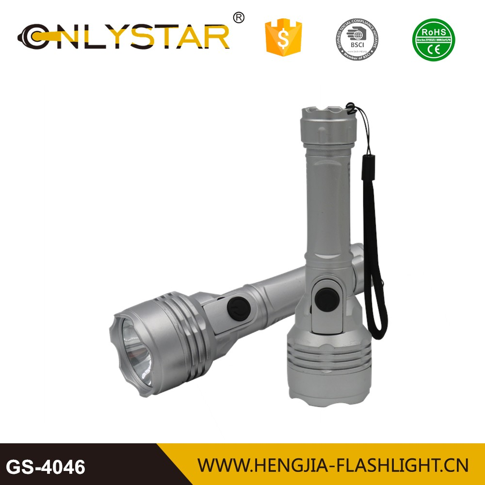 Ningbo factory cheap price handheld portable 1w spotlight super bright led torch