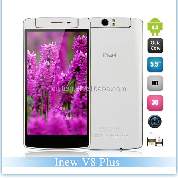 iNEW V8 Plus 5.5inch HD IPS Screen Android OS 4.4 Smart Phone 6.8mm Body Thickness MTK6592m Octa Core 1.4GHz 2GB ROM 16GB RAM