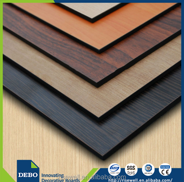 Decorative High-Pressure Laminates / HPL Type and Wood grain, metal, plain, etc. Surface Finishing laminated board