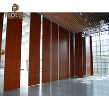 Hotal acoustic soundproof material movable acoustic accordion partition wall