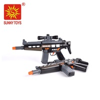 high quality kids plastic black battery operated toy guns with laser