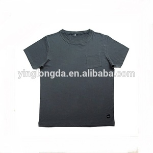 collar pocket men t-shirt with customer logo and brand