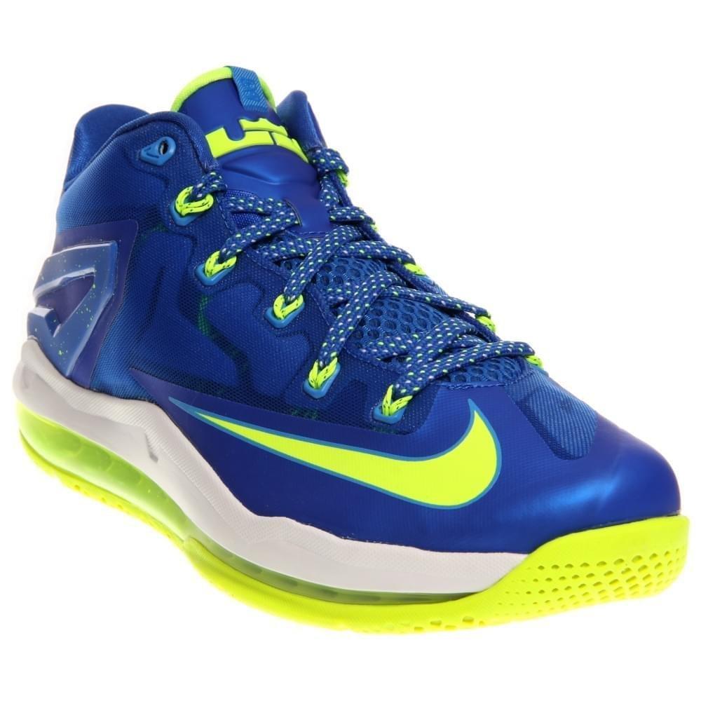 purchase cheap 83a09 74fed Nike Max Lebron XI Low Men Sneakers Hyper Cobalt White Photo Blue Volt