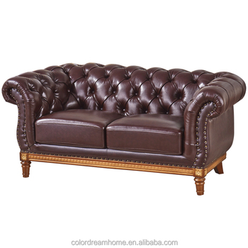 Wooden Frame Carving Genuine Leather