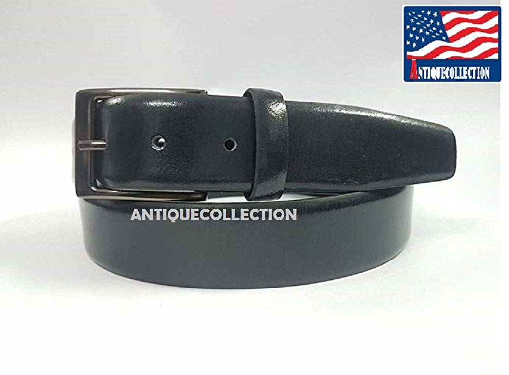 ANTIQUECOLLECTION Men's Classic Dress Leather Belt - Casual Belt Formal Belt