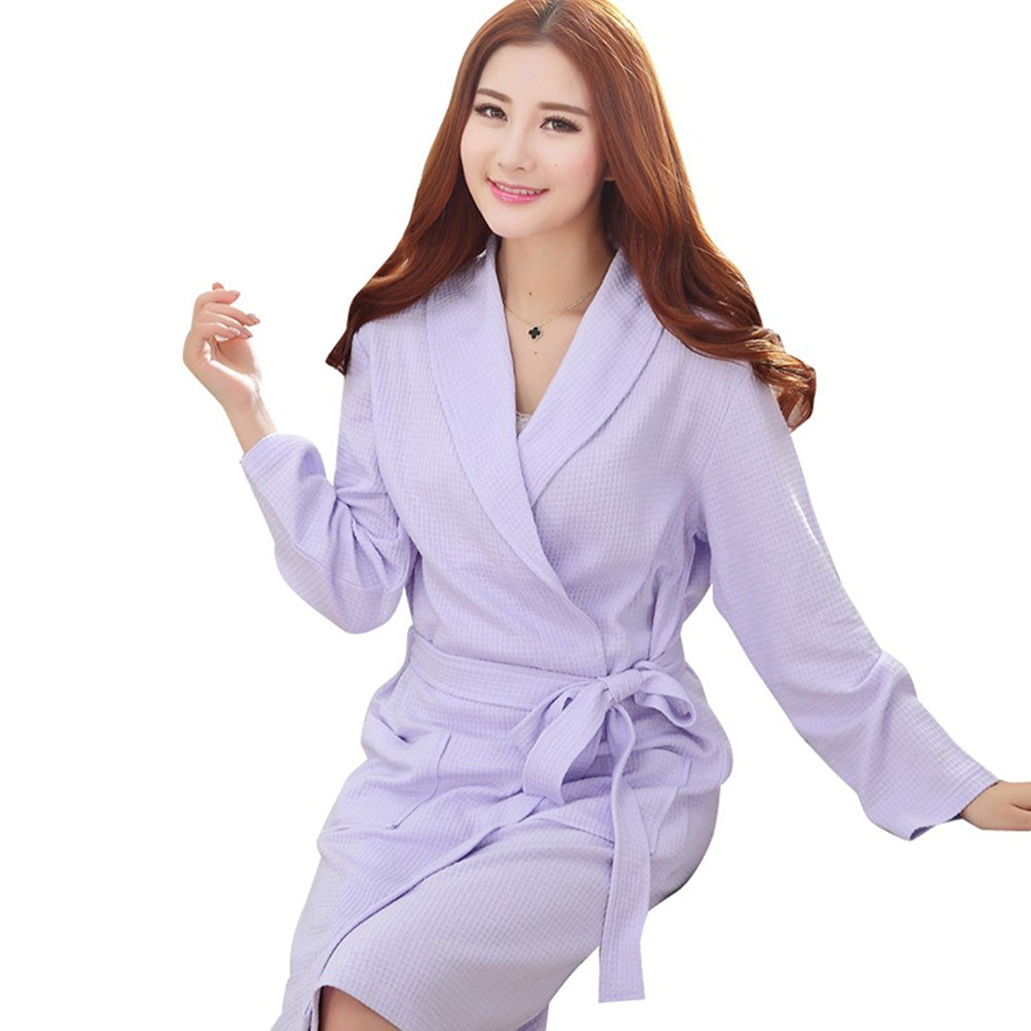 a66ca9187e Get Quotations · Fashionpjs Cotton Matching Couples Mens Womens Robe  Thermal Pajamas Long Bathrobe