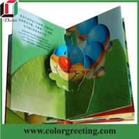 magic coloring elegant children custom pop up 3D printing board book