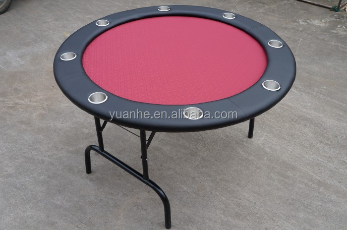 48 Inch 8 Person Folding Portable Round Poker Card Table For Sale