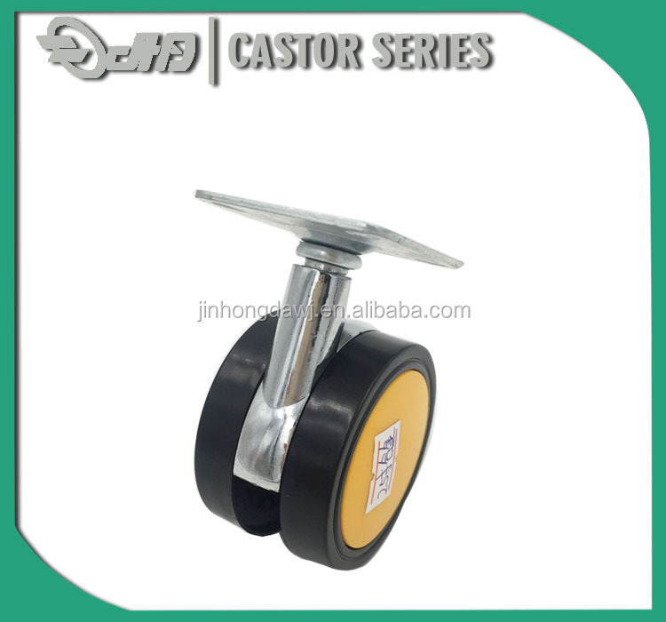 Guangdong Newest Durable Twin Furnitur Office Chair Caster Castor Wheel with brake and plate
