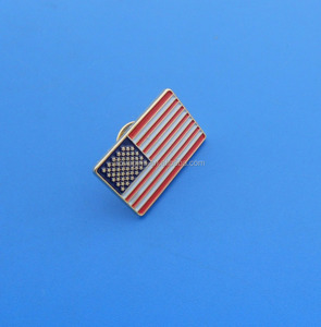 cheap price custom rectangle US flag lapel pin/Badge wholesale