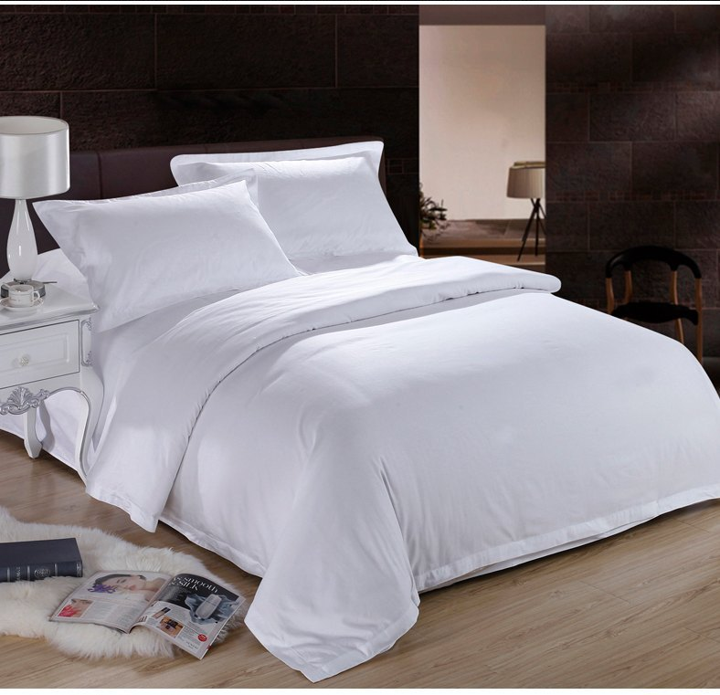 Hotel Collection King Size Quilts: Pure-White-Hotel-Home-Textile-100-Cotton-Bedding-Set-Queen