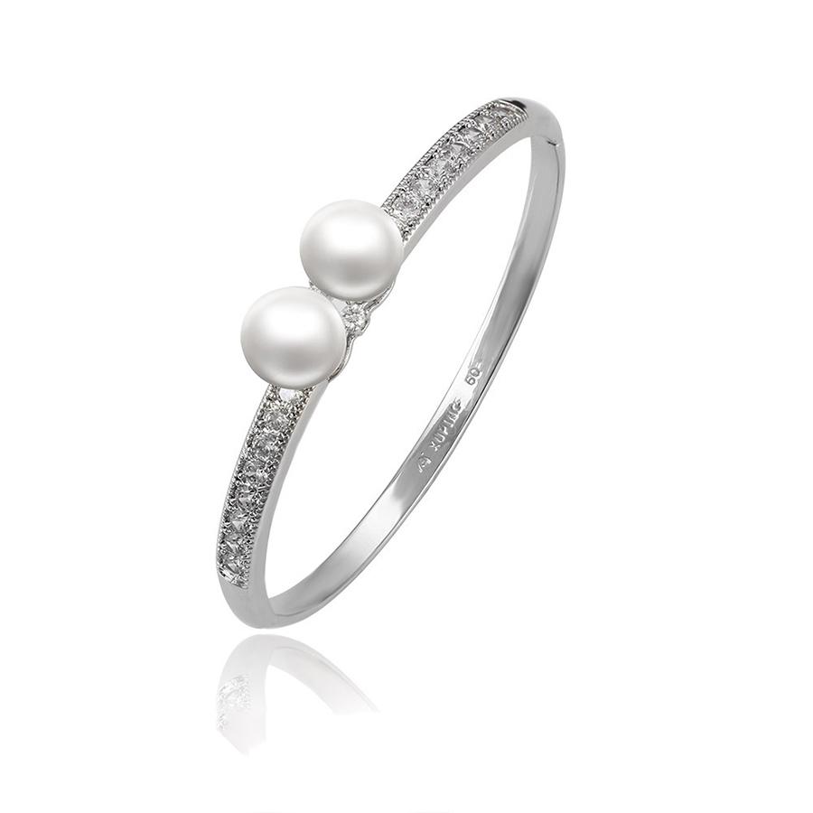51569 Xuping double pearl bangle charm bracelet,bangle stand designs,bangle sex фото
