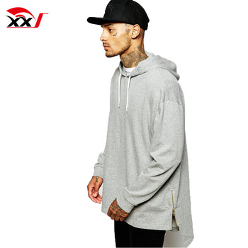 new concept b10a5 92419 longline oversized supreme hoodie with stepped hem and zips design your own  hoodie in china