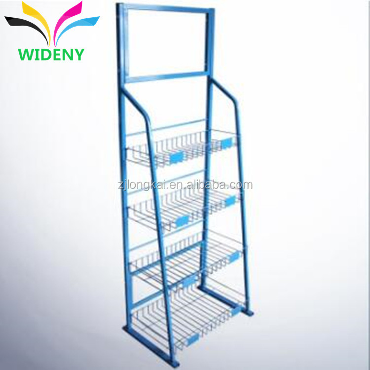 Sturdy powder coating studio used flooring pigment display stand
