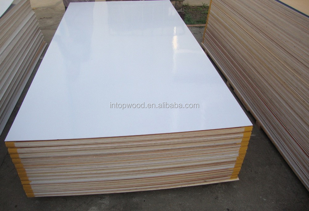 Paper Overlaid Plywood White Glossy Polyester Plywood For