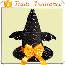2015 New Arrive especial witch hat have wings halloween hat for children