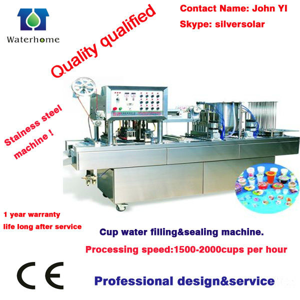 Monoblock Cup water Production Line