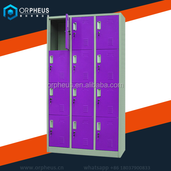 Chinese Factory Price Abs Plastic Keyed Steel Cabinet 12 Door Clothes Storage Locker For Public