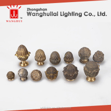 brass zhonghshan lamp finials decorative wholesale