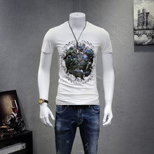 Summer Clothes Mens Street Custom HIgh Quality 3D Printed T Shirt Fashion Cotton Jersey T Shirt Wholesale