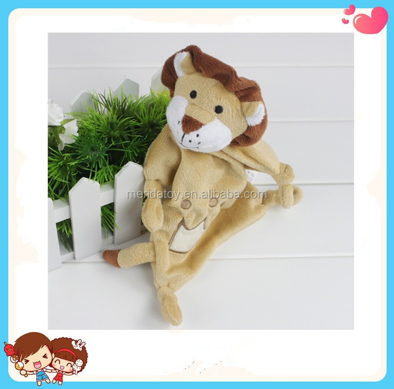 hot Wholesale good quality Custom cartoon lion shaped kids comforter blanket toy