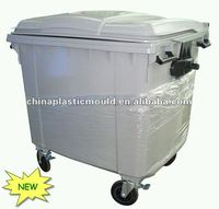 1100l Plastic Waste Container With En 840 Certificates