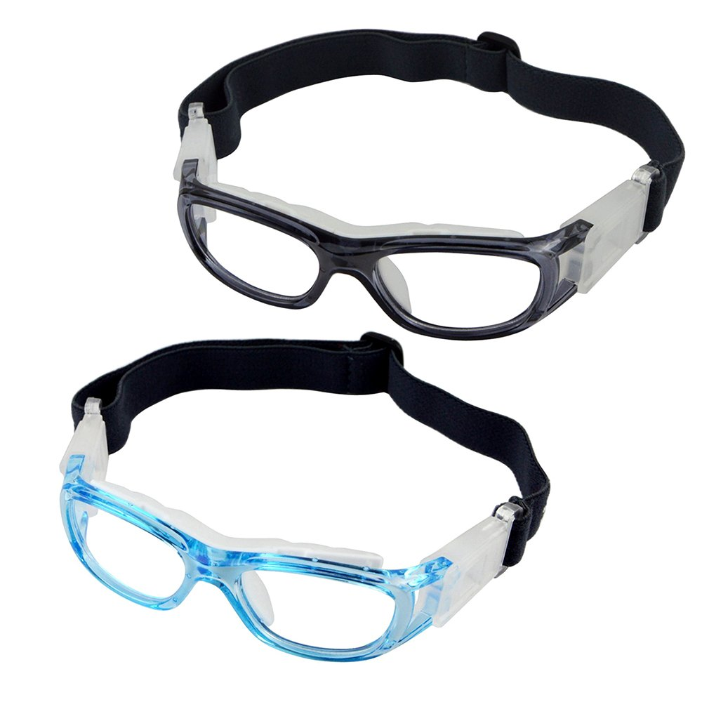 ca219e9ec8e0 Get Quotations · Elemart(TM) 2 PCS Kids Sport Glasses - Adjustable Anti-fog  Protective Children