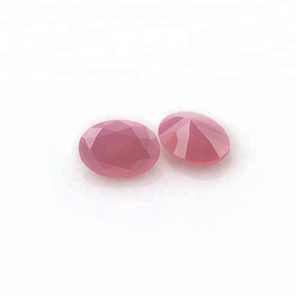 Synthetic colored stones pink milky cubic zirconia