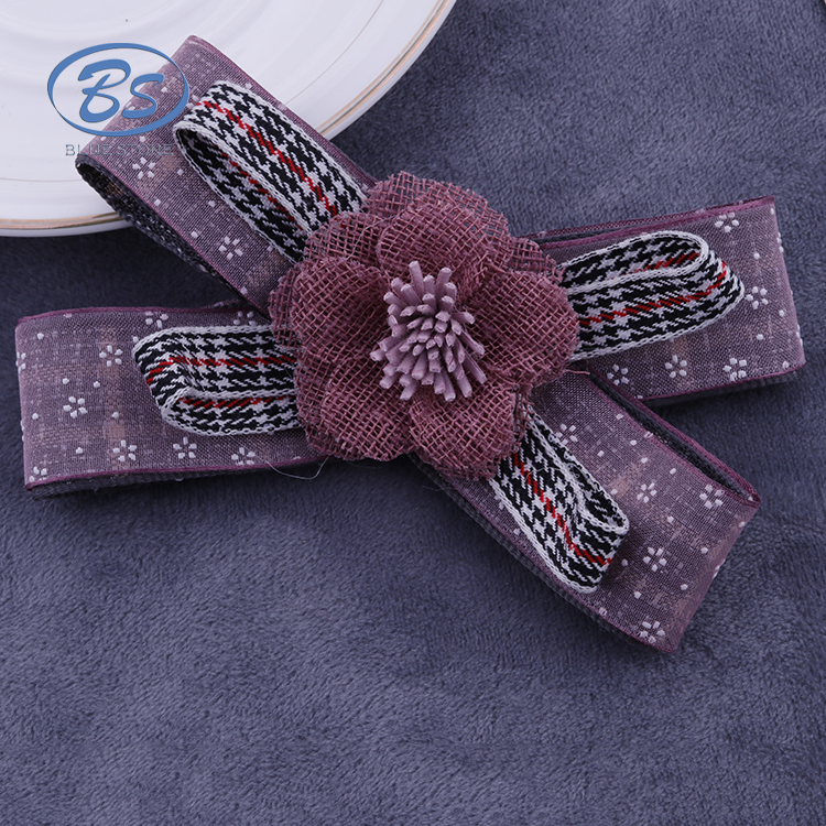 2018 B18003Z Fashion ribbon flower wholesale brooch vintage