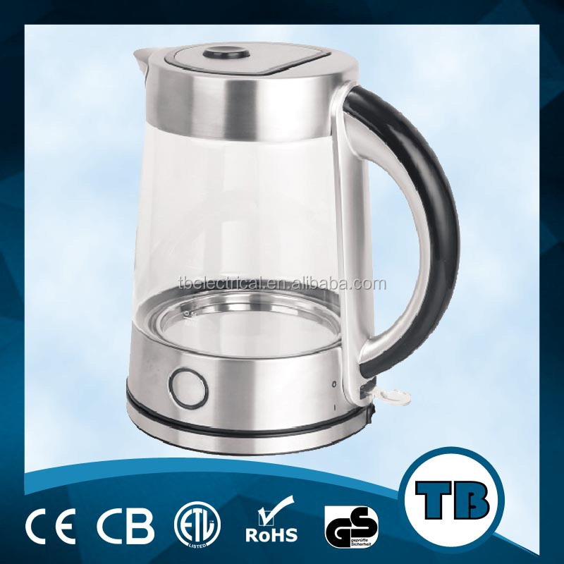 Mini Electric Glass Kettle 1.7L with Automatic Shut-off