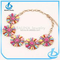 Wholesale korean hawaii flower bling jewelry