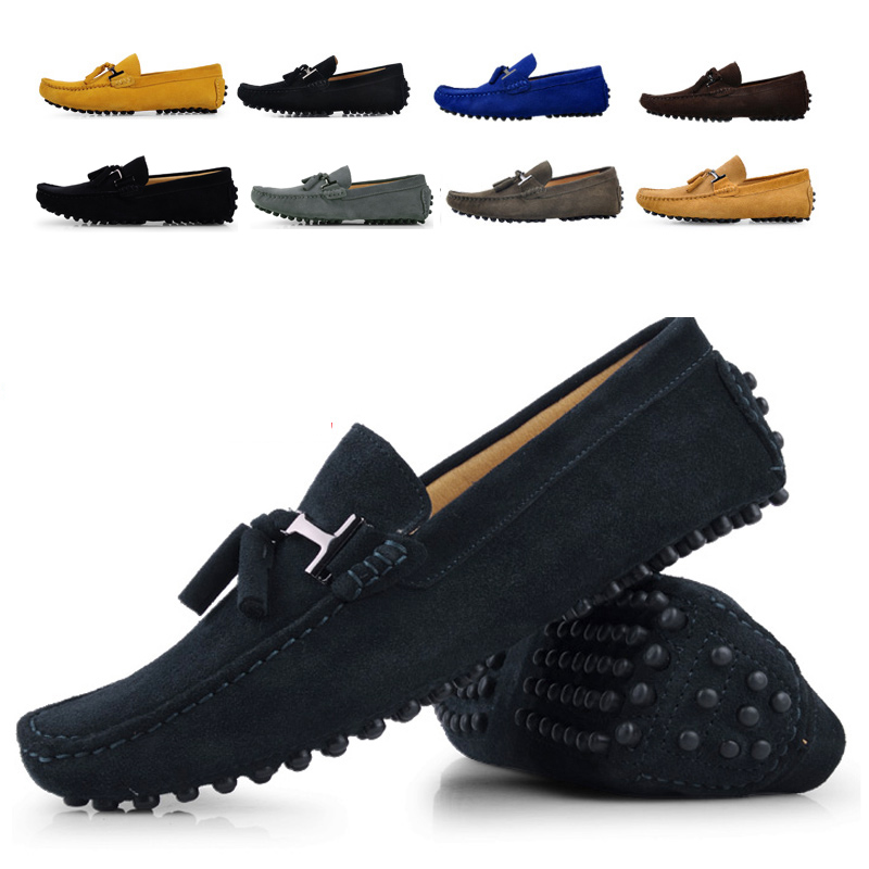 Male fashion male gommini loafers genuine leather scrub the trend of casual pedal boat shoes male shoes  men shoes