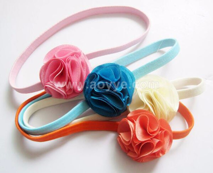 European and American popular children's chiffon hair band baby girl headband