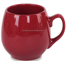 Red And White Color Promotional Big Large Oversized Ceramic Stoneware Coffee Tea Mug Cup